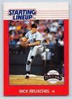 1988  RICK REUSCHEL - Kenner Starting Lineup Card - San Francisco Giants