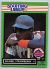 1989  DARRYL STRAWBERRY - Kenner Starting Lineup Card - NEW YORK METS
