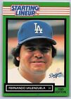 1989  FERNANDO VALENZUELA - Kenner Starting Lineup Card - LOS ANGELES DODGERS
