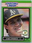 1989  JOSE CANSECO - Kenner Starting Lineup Card - Oakland Athletics - Vintage