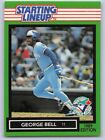 1989  GEORGE BELL - Kenner Starting Lineup Card - Toronto Blue Jays