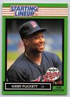 1989  KIRBY PUCKETT - Kenner Starting Lineup Card - Minnesota Twins - Vintage