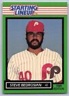 1989  STEVE BEDROSIAN - Kenner Starting Lineup Card - Philadelphia Phillies