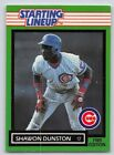 1989  SHAWON DUNSTON - Kenner Starting Lineup Card - Chicago Cubs - Vintage