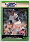 1989  RICK SUTCLIFFE - Kenner Starting Lineup Card - Chicago Cubs - Vintage