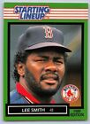 1989  LEE SMITH - Kenner Starting Lineup Card - BOSTON RED SOX