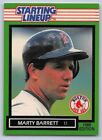 1989  MARTY BARRETT - Kenner Starting Lineup Card - Boston Red Sox