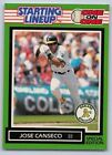 1989  JOSE CANSECO - Kenner Starting Lineup Card - Oakland Athletics