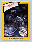 1990  DAVE HENDERSON - Kenner Starting Lineup Card - Seattle Mariners - (Yellow