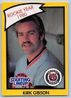 1990  KIRK GIBSON - Kenner Starting Lineup Card - DETROIT TIGERS - (Yellow)