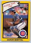 1990  DAMON BERRYHILL - Kenner Starting Lineup Card - CHICAGO CUBS - (Yellow)