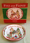 Fitz & Floyd Christmas Sentiment Tray Celebrate The Season NIB