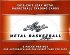 2012 13 LEAF METAL BASKETBALL HOBBY BOX