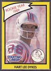 1990  HART LEE DYKES - Starting Lineup Card - NEW ENGLAND PATRIOTS - (Yellow)