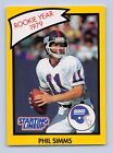 1990  PHIL SIMMS - Starting Lineup Card - New York Giants - (Yellow)