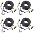 4 x 100ft BNC CCTV Video Power Cable CCD Security Camera DVR Wire Cord Connector