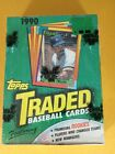 1990 Topps Traded Baseball Wax Pack Box Factory Sealed David