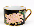 Fitz and Floyd CLOISONNE PEONY - BLACK Flat Cup Only 2.125 in. Purple Pink