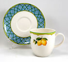 Mikasa FRUIT RAPTURE KT433 Flat Cup & Saucer Set 3.125 in. Various Fruit