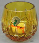 Waterford Lismore Yellow Cased Crystal Votive Made in Hungary - New In Box