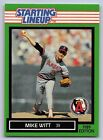 1989  MIKE WITT - Kenner Starting Lineup Card - California Angels -Vintage