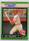 1989  JEFF TREADWAY - Kenner Starting Lineup Card - CINCINNATI REDS