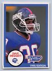 1990  DAVE MEGGETT - Starting Lineup Card - New York Giants - (BLUE) - Vintage