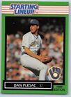 1989  DAN PLESAC - Kenner Starting Lineup Card - Milwaukee Brewers - Vintage