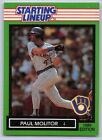 1989  PAUL MOLITOR - Kenner Starting Lineup Card - Milwaukee Brewers - Vintage