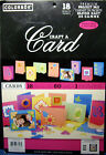 NEW CRAFT A CARD Cardmaking Set Paper Crafts Scrapbooking COLORBOK 18 Projects