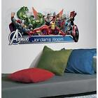 AVENGERS ASSEMBLE wall stickers mural personalize decals Iron Man HEADBOARD