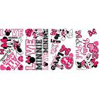 MINNIE MOUSE Loves Pink wall stickers 28 Disney decals scrapbook Heart Mickey