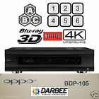 OPPO DIGITAL BDP-105D DARBEE EDITION MULTI REGION CODE FREE BLU-RAY PLAYER NEW