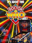 Dr Who Bally Pinball Machine Flyer. Promotional Mint 1993  BEWARE OF COPIES Rare