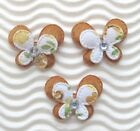 US SELLER 60 x 1 Padded 2 Layer Felt Floral Flower Butterfly Appliques ST416N