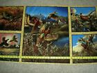 Pheasant Country Hen Rooster Flying Pheasants Panels 20781-S qt cotton Fabric
