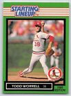 1989  TODD WORRELL - Kenner Starting Lineup Card - ST. LOUIS CARDINALS