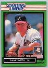 1989  ZANE SMITH - Kenner Starting Lineup Card - SLU - ATLANTA BRAVES