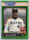 1989  BILLY HATCHER - Kenner Starting Lineup Card - SLU - HOUSTON ASTROS