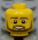NEW Lego Castle Male MINIFIG HEAD w/Brown Beard - Kingdoms/Pirate/Police Agent