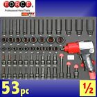 FORCE Tools Professional 53pc Air Impact Wrench & Socket set 6pt torx hex gun