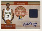 Paul George 2010-11 Panini Timeless Treasures Apprentice Auto Jersey RC 07 50
