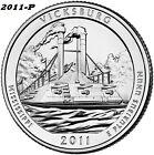 2011 P VICKSBURG UNCIRCULATED NATIONAL PARK QUARTER I HAVE ALL ATB QUARTERS