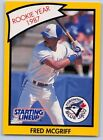 1990  FRED McGRIFF - Kenner Starting Lineup Card - TORONTO BLUE JAYS - (Yellow)