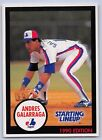 1990  ANDRES GALARRAGA - Kenner Starting Lineup Card - MONTREAL EXPOS - (BLUE)