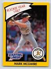 1990  MARK McGWIRE - Kenner Starting Lineup Card - OAKLAND ATHLETICS -(Yellow)
