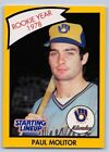 1990  PAUL MOLITOR - Kenner Starting Lineup Card - Milwaukee Brewers -Yellow