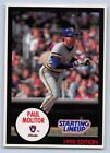 1990  PAUL MOLITOR - Kenner Starting Lineup Card - MILWAUKEE BREWERS - (Blue)