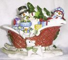 Fitz & Floyd FLURRIES LIDDED SLEIGH BOX, NEW IN BOX