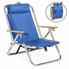 Backpack Beach Chair Folding Portable Chair Blue Solid Construction Camping New
